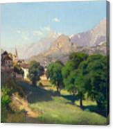 Bramois. Wallis. 1861 Canvas Print