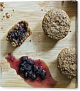 Bran Muffins With Mulberry Jam Canvas Print