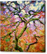 Branching Out In Autumn Neon Canvas Print