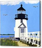 Brant Point Lighthouse Painting Canvas Print