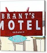 Brants Motel Sign Barstow Canvas Print