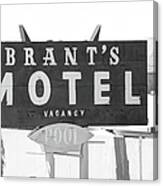 Brants Motel Signage Canvas Print