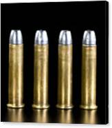 Brass And Lead Bullets. Canvas Print