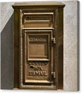 Brass Mail Box Nyc Canvas Print