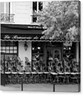Brasserie Early Morning Canvas Print