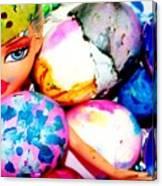 Brat Egg Head Canvas Print
