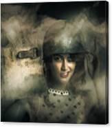 Brave Army Pinup Canvas Print