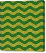 Brazilian Paving Pattern In Brazilian Colours. Canvas Print