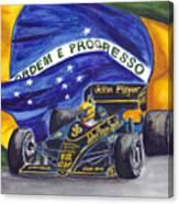 Brazil's Ayrton Senna Canvas Print