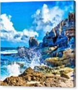 Breakers On The Rocks At Kenridgeview - On - Sea L B Canvas Print