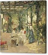 Breakfast On The Terrace Sir John Lavery Canvas Print
