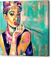 Audrey Hepburn Painting, Breakfast At Tiffany's Canvas Print