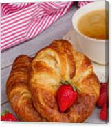 Breakfast With Croissants Canvas Print
