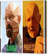 Breaking Bad Polygons - 496 Canvas Print