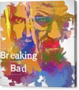 Breaking Bad Watercolor Canvas Print