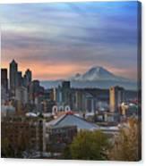 Breaking Dawn In Seattle Canvas Print