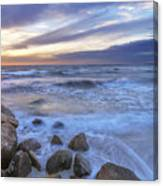 Breaking Waves At Old Silver Beach Canvas Print