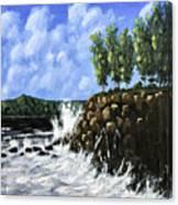 Breaking Waves Painting Canvas Print