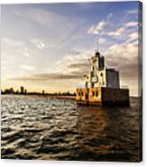 Breakwater Lighthouse Canvas Print