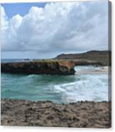 Breathtaking Boca Keto Beach On The Island Of Aruba Canvas Print