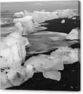 Brethamerkursandur Iceberg Beach Iceland 2319 Canvas Print