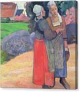 Breton Peasants Canvas Print