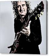 Brian May Of The Rock Group Queen Canvas Print