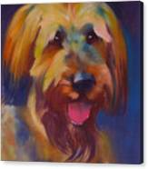 Briard Puppy Canvas Print