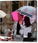 Bribane In The Rain #2 Canvas Print