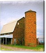 Brick Barn And Silo Canvas Print