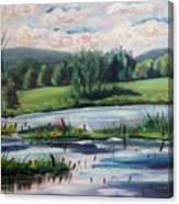 Brick Pond Afternoon Canvas Print