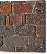 Brick Street Canvas Print