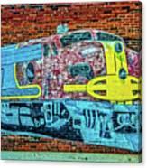 Brick Train Canvas Print