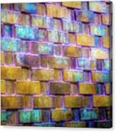 Brick Wall In Abstract 499 S Canvas Print