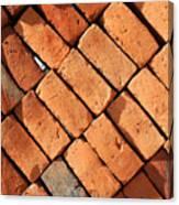 Bricks Made From Adobe Canvas Print