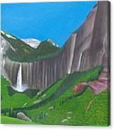 Bridal Veil And Ingram Falls Canvas Print