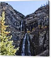 Bridal Veil Falls Provo Utah Canvas Print