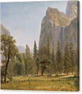 Bridal Veil Falls Yosemite Valley California Canvas Print