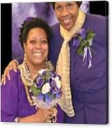 Bride And Aunt  Canvas Print