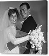 Bride And Groom, C.1960s Canvas Print