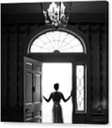 Bride Silhouette  Canvas Print