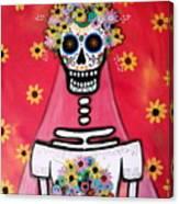 Bridezilla Dia De Los Muertos Canvas Print