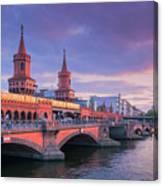 Bridge Across The River Spree, Berlin, Germany Canvas Print