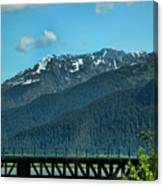 Bridge Alaska Rail  Canvas Print