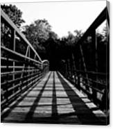 Bridge And Tunnel - B/w Canvas Print
