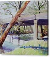 Bridge At Camp Verde Canvas Print