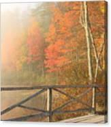 Bridge At Chocorua Lake Canvas Print