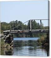 Bridge At Chub Canvas Print