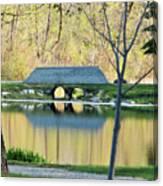 Bridge At Island Park Canvas Print