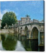 Bridge At Quissac - P4a16005 Canvas Print